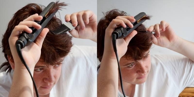 can boys use hair straightener