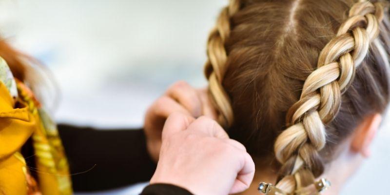 can you flat iron braiding hair