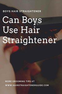 flat iron men hair